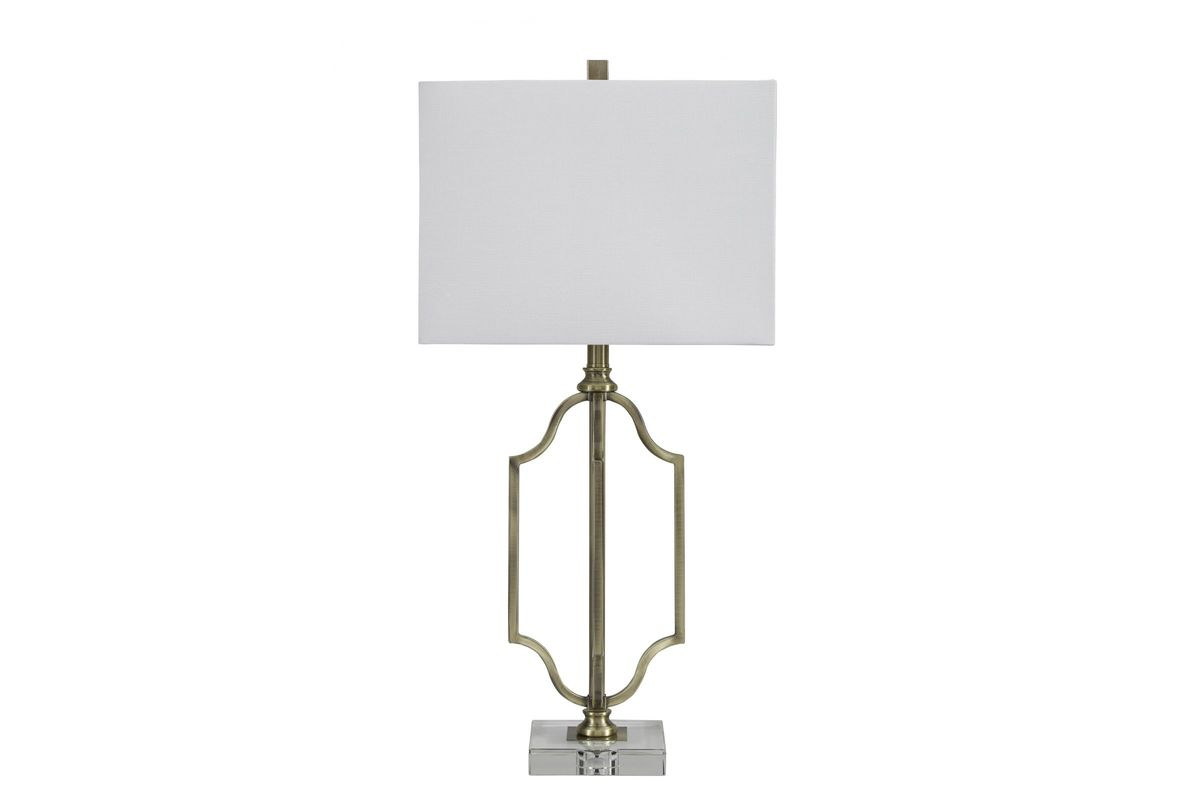 Ultra Modern Table Lamp Arabela Metal Table Lamp In Antique Brass Finish By Ashley