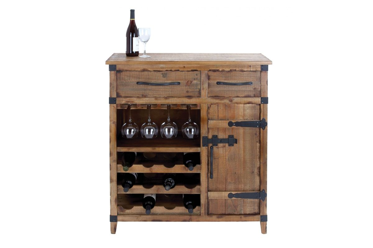 Wood Wine Storage Rustic Distressed Wood Wine Storage Cabinet In Wheat Oak