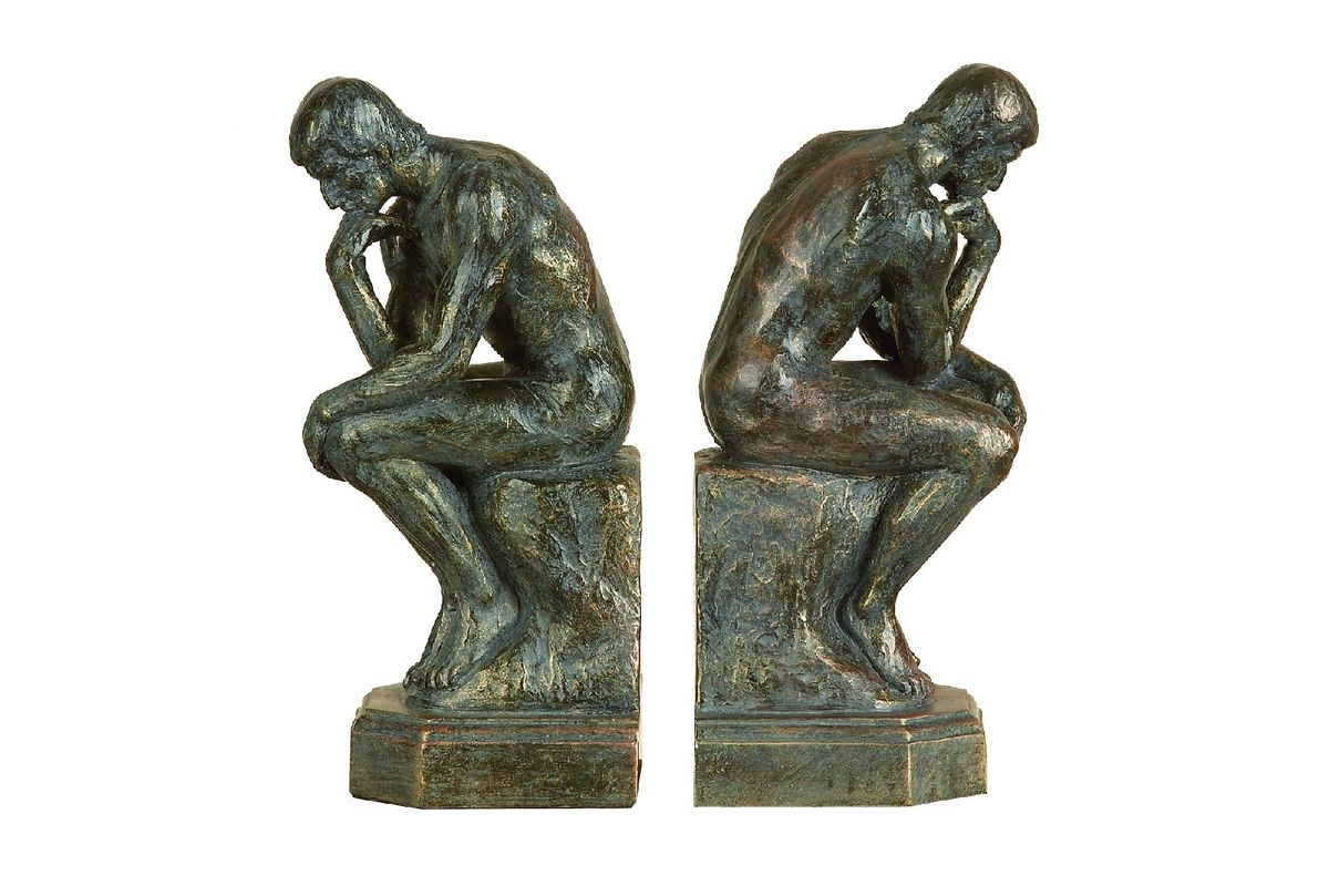 Classic Bookends Classic Elegance 39the Thinker 39 Bookends At Gardner White