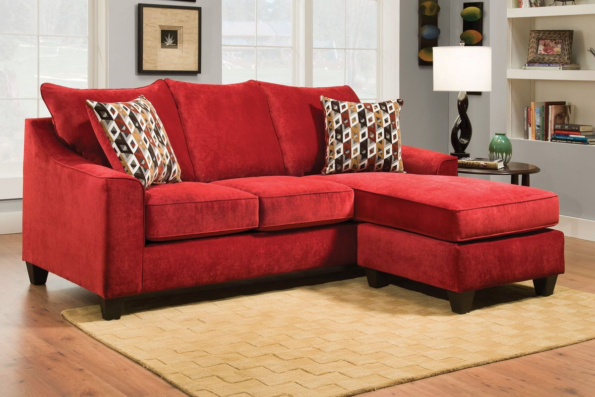 Chaises Elizabeth Chaise Sofa Red