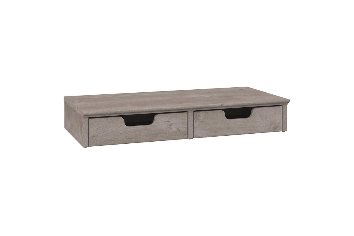 Desk Top Drawers Key West Desktop Organizer With Drawers In Washed Grey By Bush