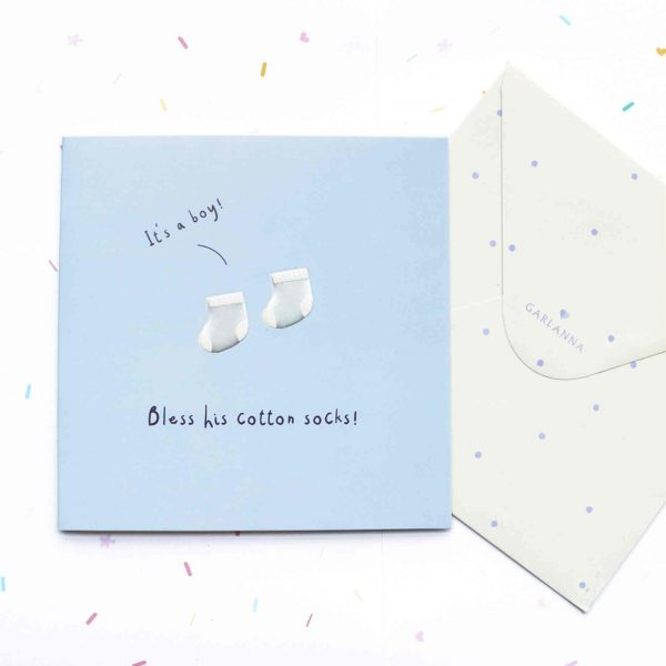 Little Moments Baby Boy Card - Garlanna Greeting Cards