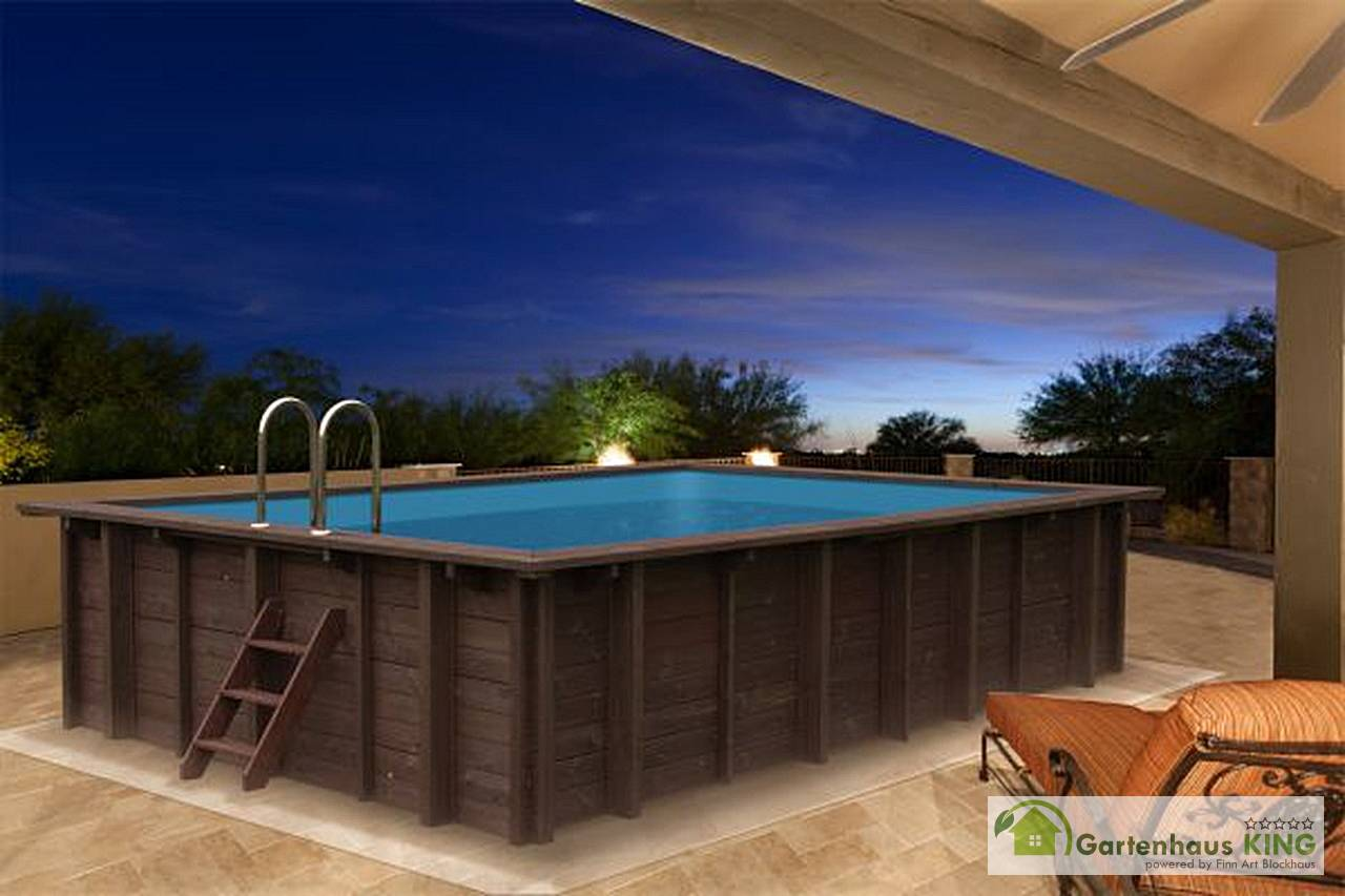 Sandfilteranlage Pool Winter Interline Holzpool Bali 790x400x138 Cm Poolset 3