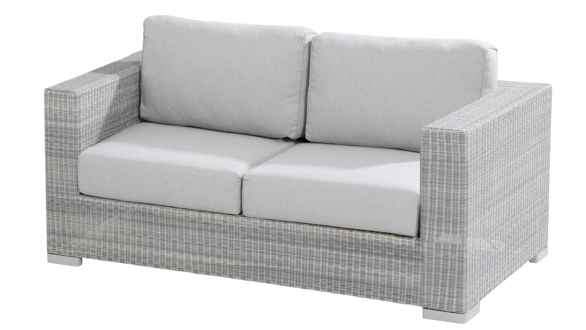 Outlet Loungebank 4 Seasons Outdoor Lucca Loungegruppe Polyloom Ice