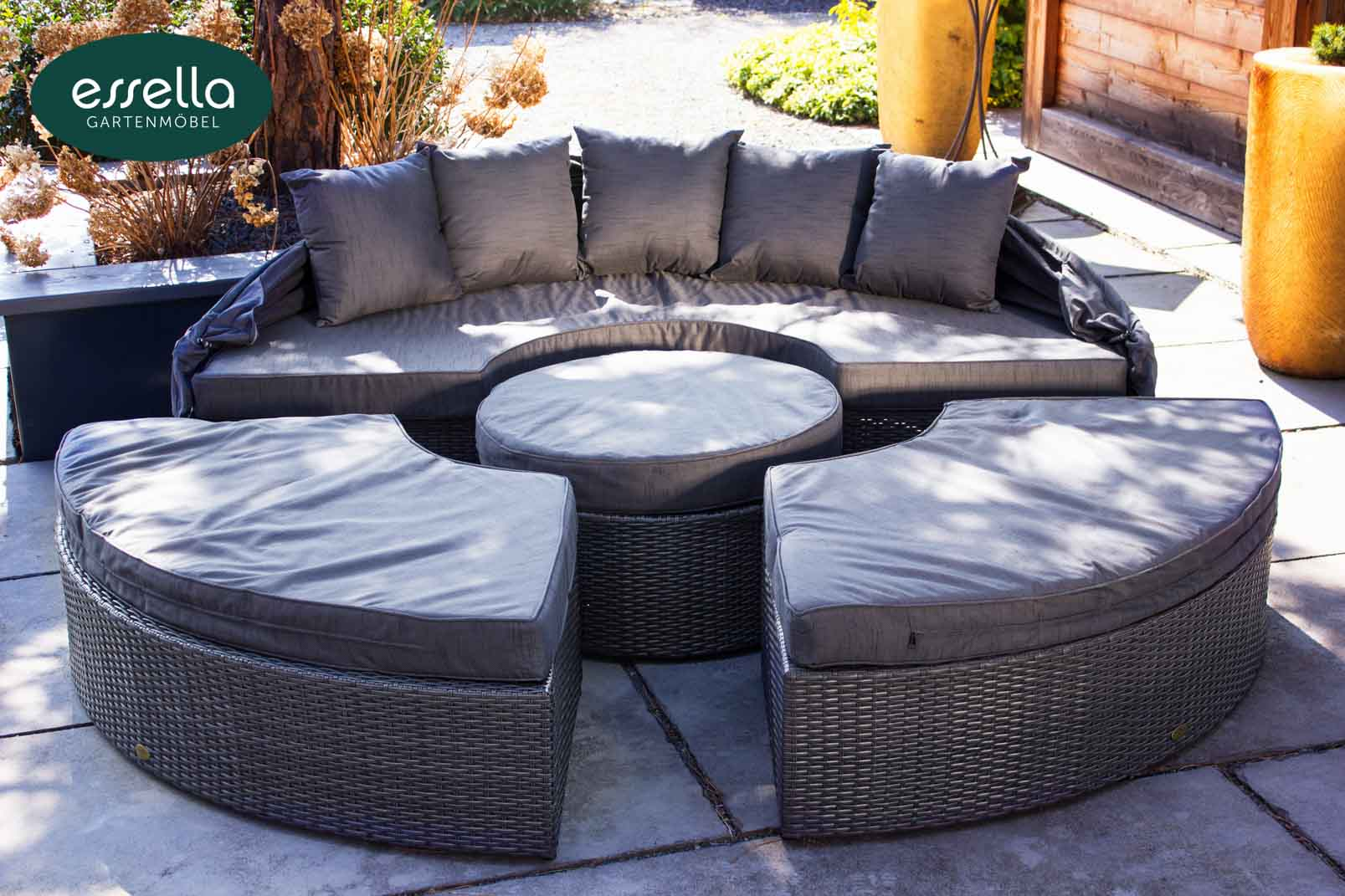 Sonneninsel Polyrattan Grau Vorschau Essella Polyrattan Sonneninsel Quothonolulu Quot Grau
