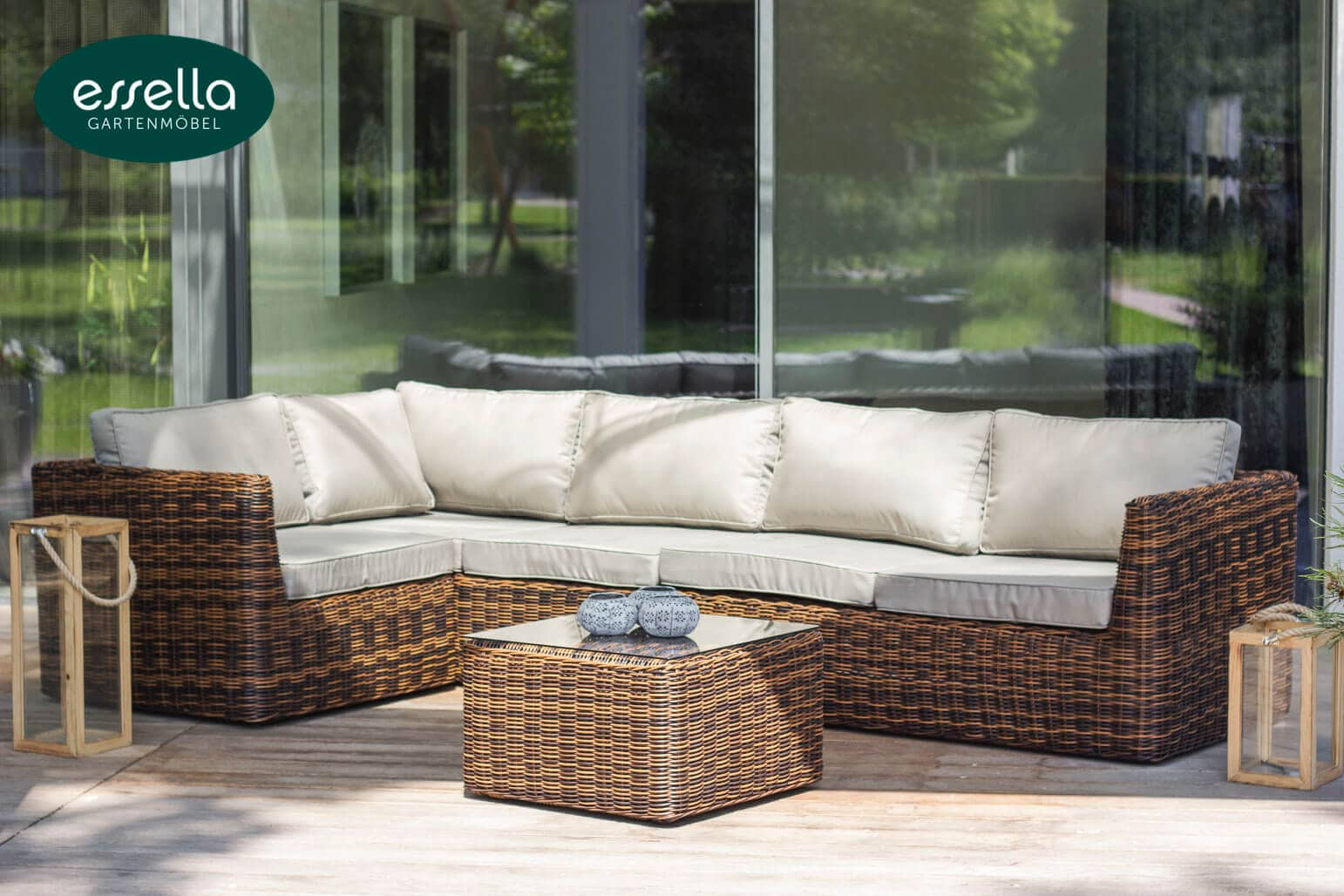 Loungemöbel Rattan Vorschau Essella Polyrattan Lounge Quotoslo Quot Bicolor