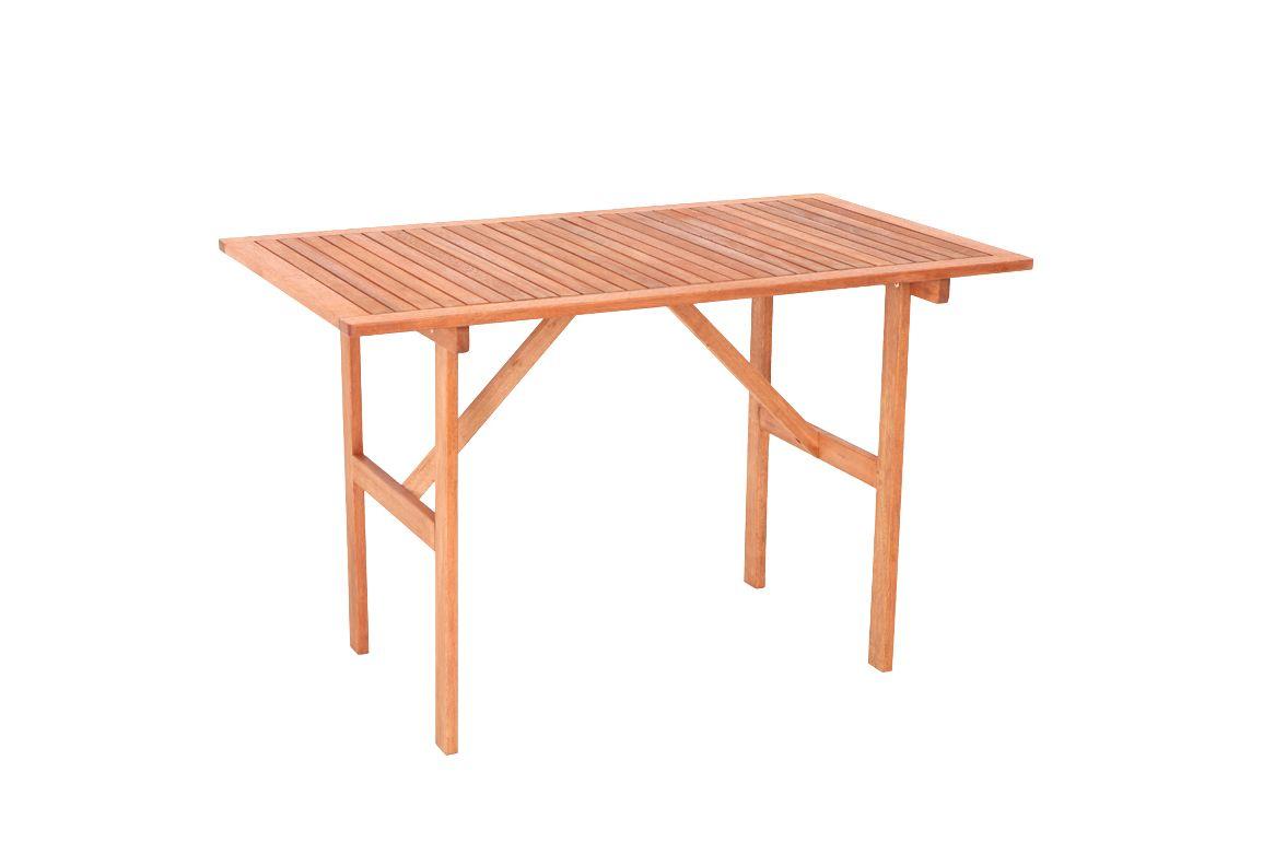 Eukalyptus Tisch Gartentisch Balkontisch Klappbar 120 X 70 Cm