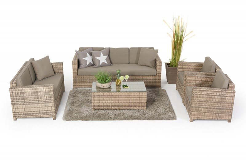 Lounge Sessel Rattan Rattan Lounge - Lilly's Deluxe - Natural - Rattan Sofas