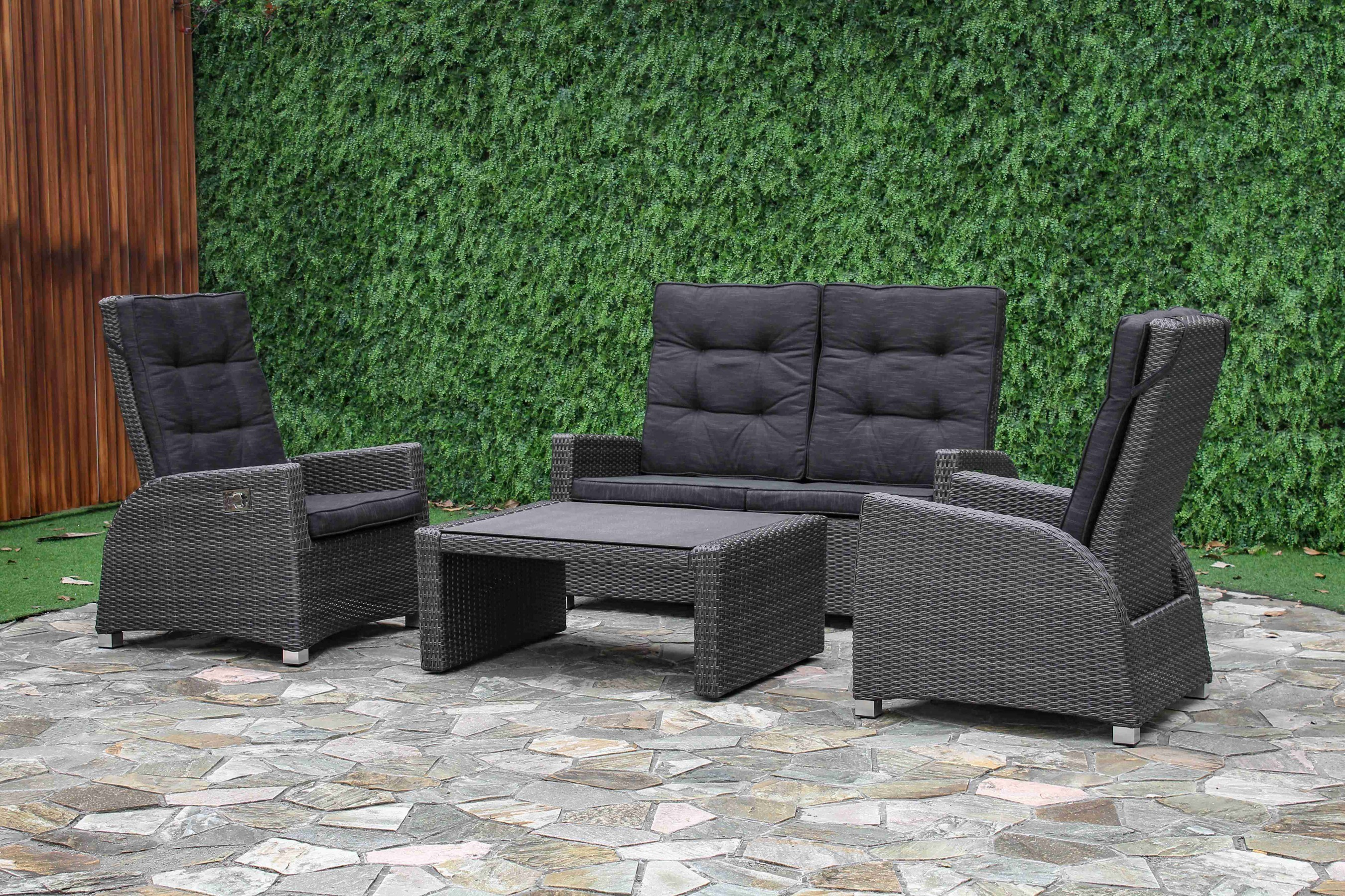 Loungemöbel Anthrazit Sungörl Loungemöbel Lounge Set Malaga Polyrattan