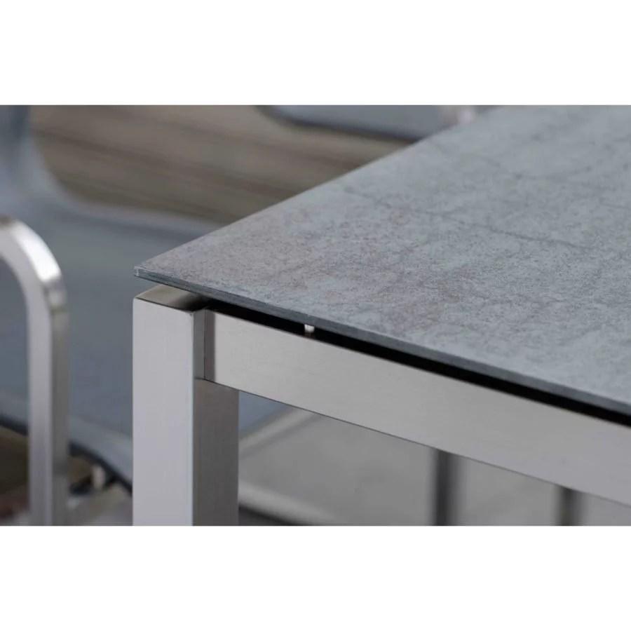 Gartentisch Holz Granit Stern Tischsystem Gartentisch Edelstahl