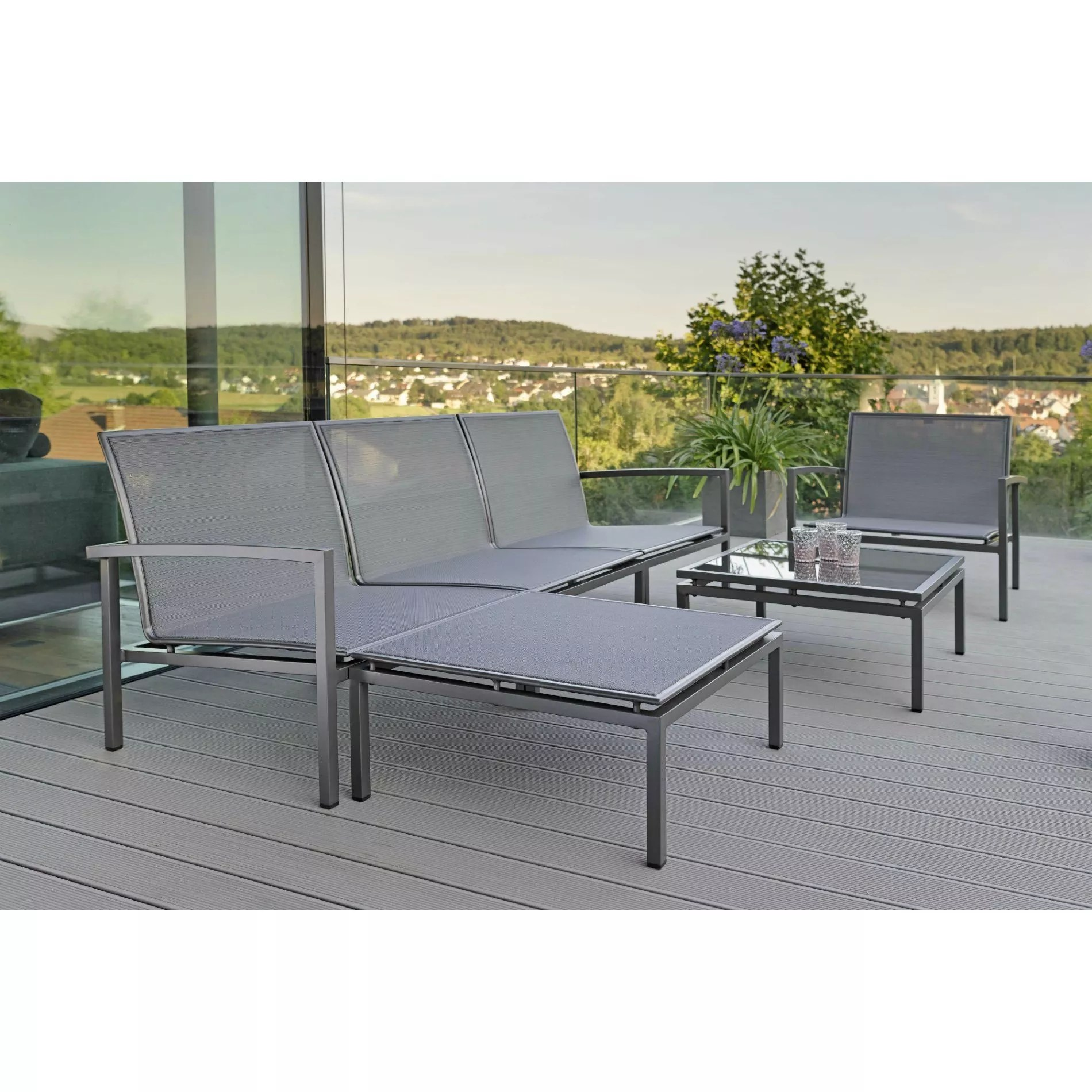 Stern Quot Skelby Quot Loungeset 6 Tlg Gestell Aluminium Anthrazit