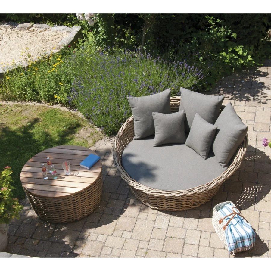 Polyrattan Bett Sonnenpartner Sands Loungebett