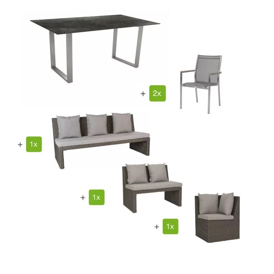 Stern Casual Dining Set Mit Stuhl