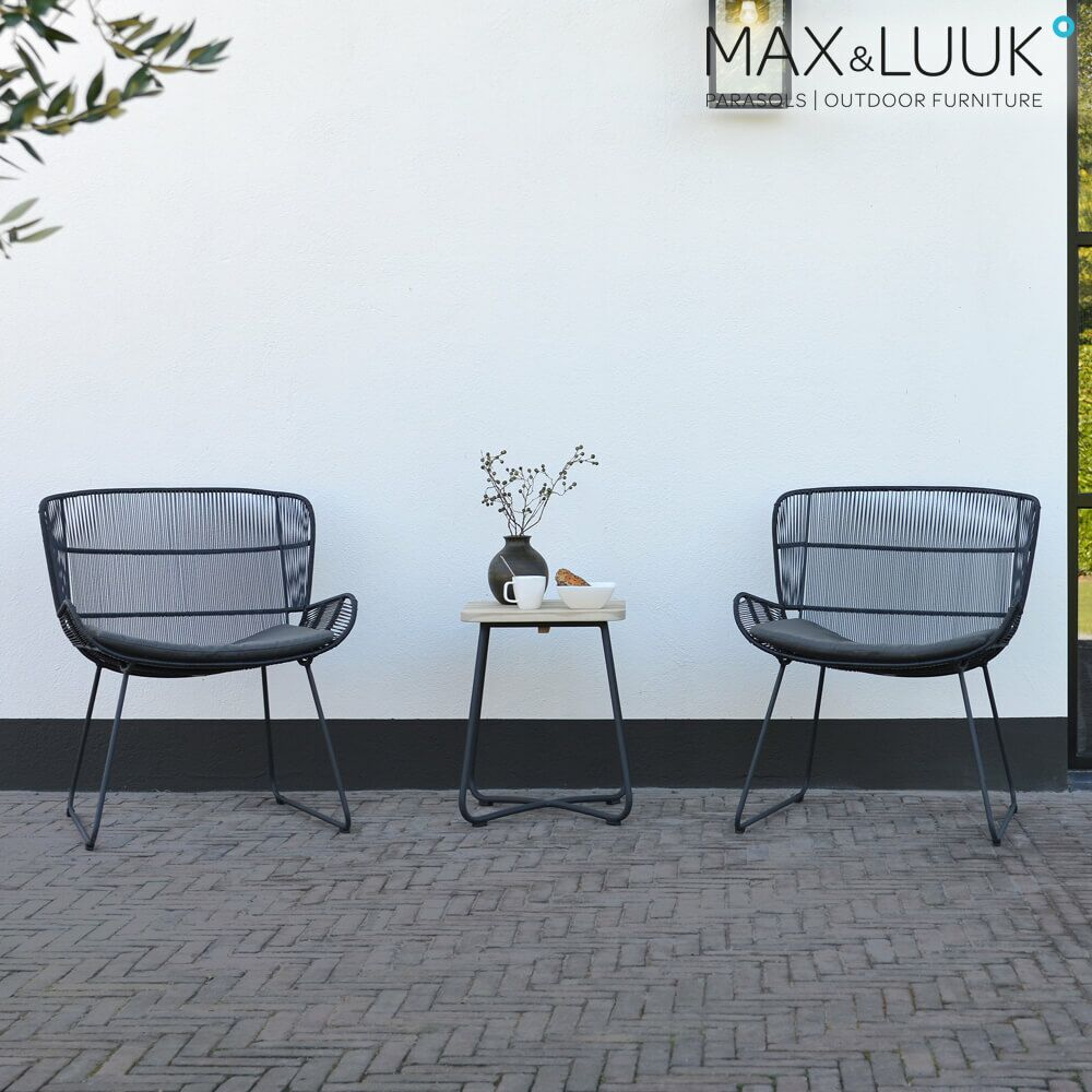Outdoor Loungesessel Aus Stahl Kunststoff