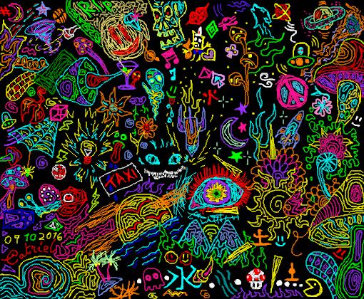 Super Hd Wallpapers Psychedelic Desenho De Catriel Gartic