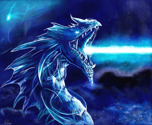 Wallpapers Clean Cute Desktop Blue Dragon Desenho De Rikaru12 Gartic