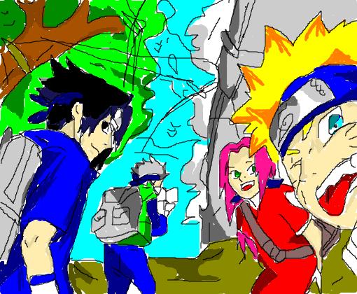 Wallpaper Anime Android Naruto Sasuke Sakura E Kakashi Desenho De Uzumaki