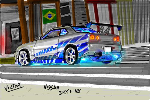 R34 Wallpaper Hd Nissan Skyline By Victor Desenho De Victor2292 Gartic