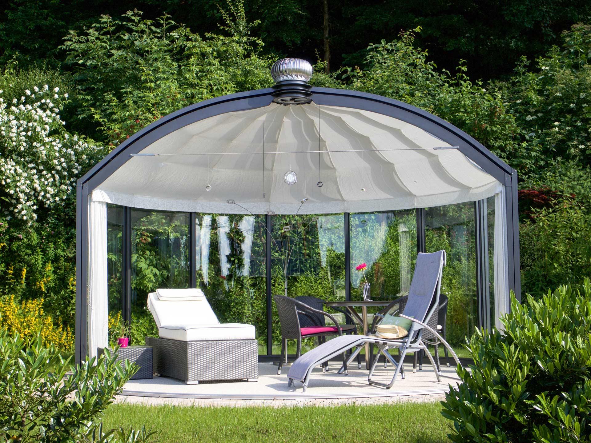 Runde Pavillons pavillon rondo | der glas pavillon mit klassischen holzelementen für
