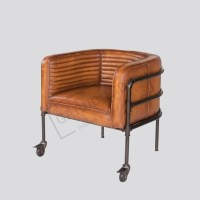 Industrial Vintage Leather Arm Chairs