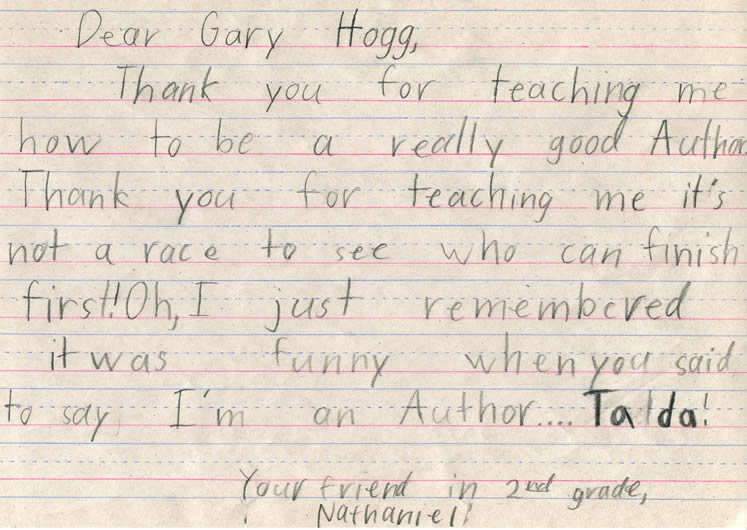 Letters from Students, Teachers and Principals - Gary Hogg, Author