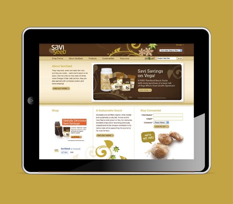 Sequel Naturals | Savi Seed Web Banner Ad