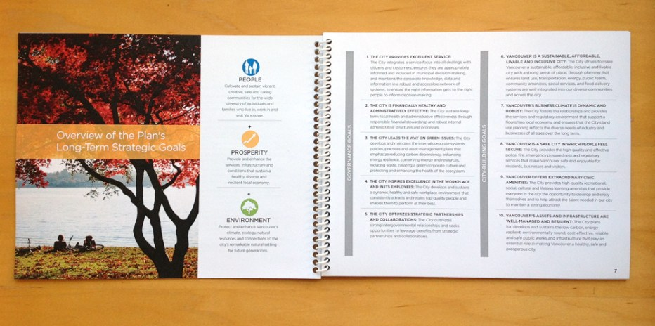 2016 Corporate Plan | Content Organization