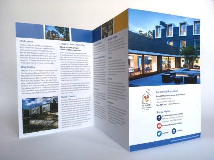 "Ronald McDonald Houe BC | ""Welcome Home"" Brochure | Accordion Fold"