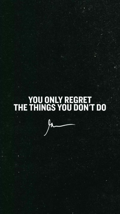 You only regret the things you don't do – GaryVee Wallpapers