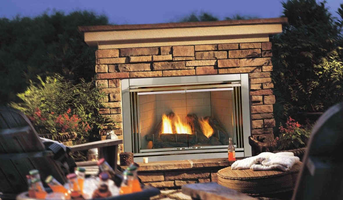 Outdoor Gas Fireplaces Dakota 42 Cyprus Air Fireplaces Va Md Dc
