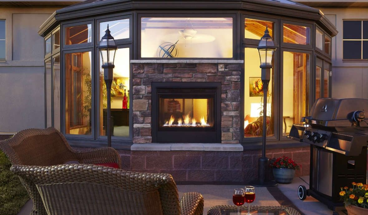 Outdoor Gas Fireplaces Twilight Traditional Indoor Outdoor Cyprus Air Fireplaces Va
