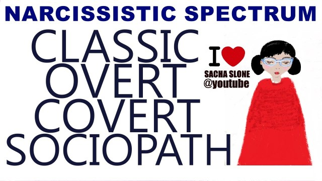 The Narcissist Spectrum : Classic – Overt – Covert – Sociopath