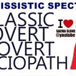The Narcissist Spectrum : Classic – Overt – Covert – Sociopath