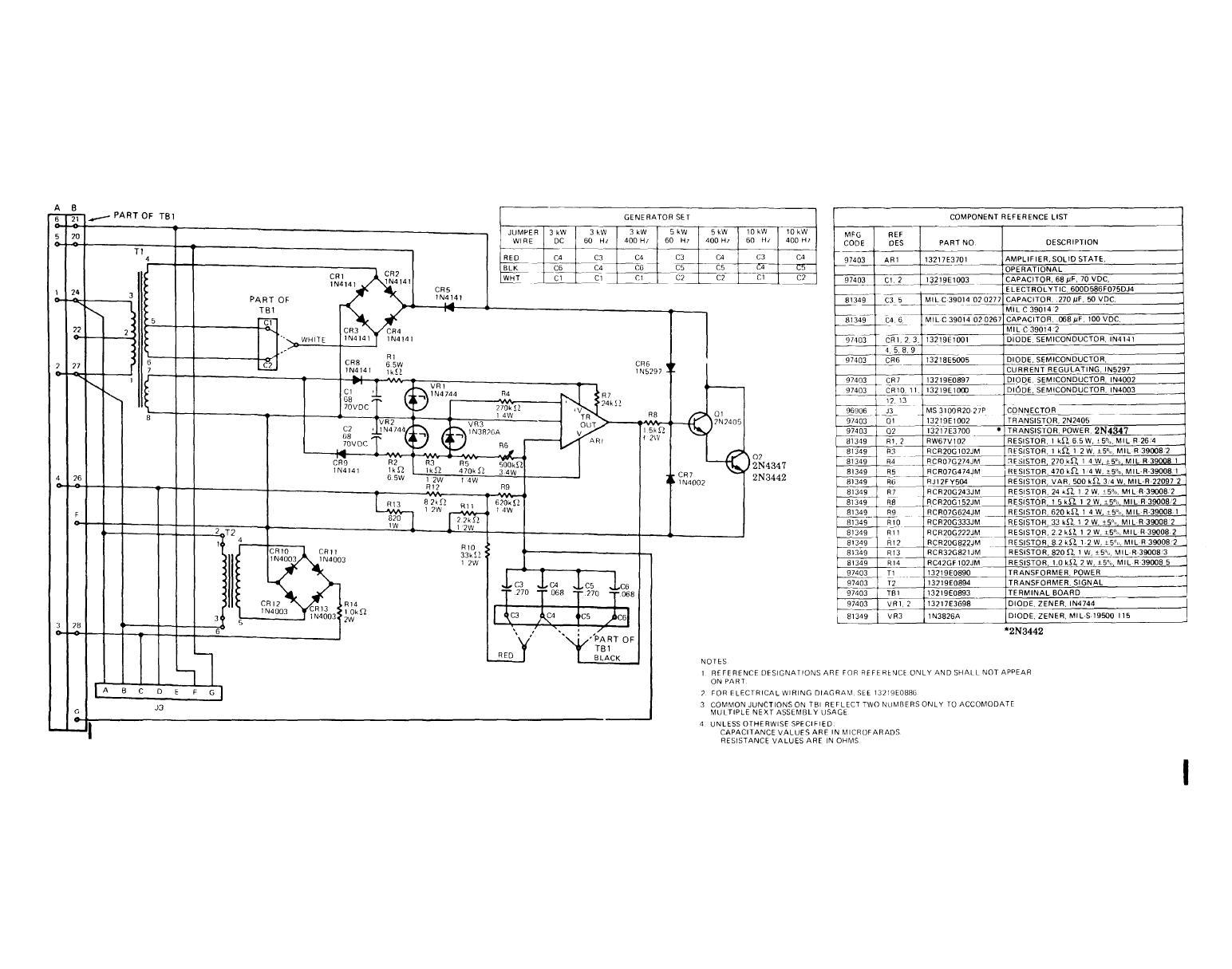 wire diagram for generator