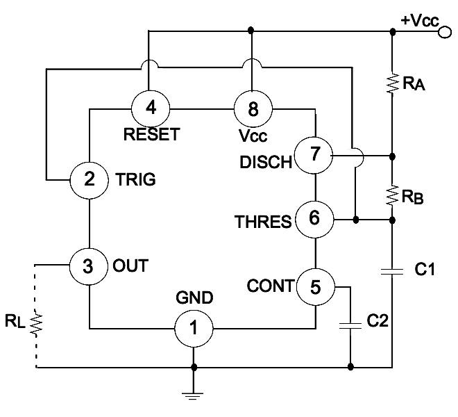 circuit oscillator lm555 part 2