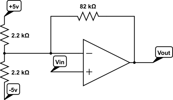 voltage divider op amp circuit