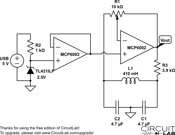 audio phase shift oscillator circuit diagram
