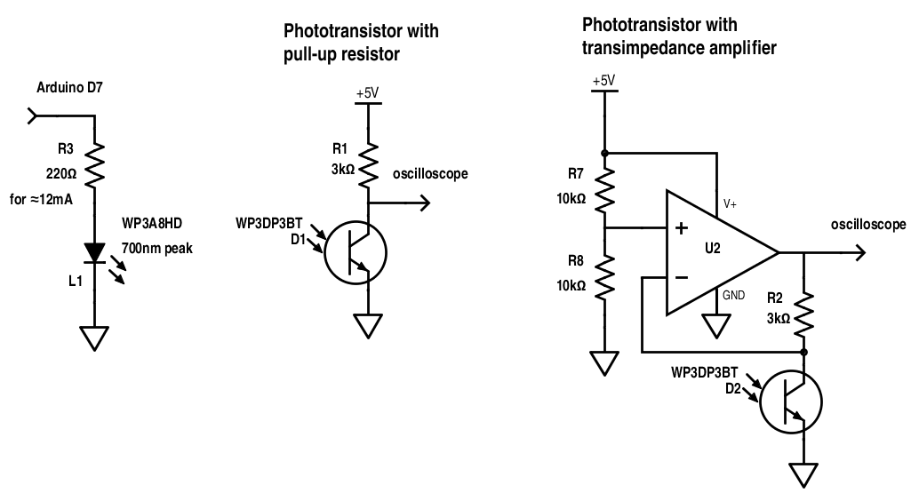 the transimpedance amplifier circuit