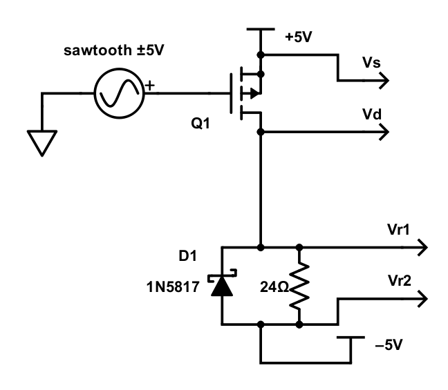 inductance measuring jig circuit