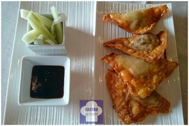 Raviolis crujientes de pato Pekin