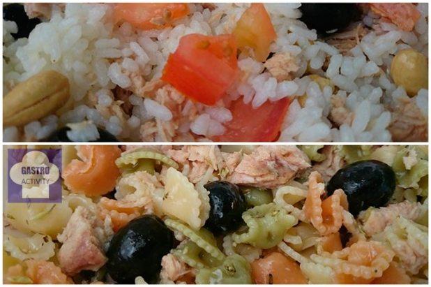 Ensalada de arroz y Ensalada de pasta