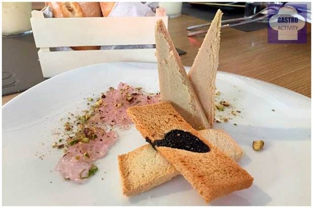 Micuit casero con mermelada de violetas Restaurante 90 Grados Madrid
