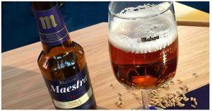 Cerveza Maestra de Mahou doble lupulo