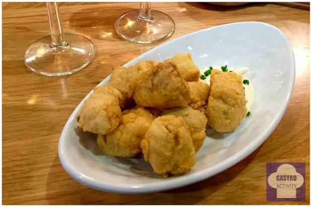 Adobo de pescado de Lambuzo La Chisperia de Chamberi Mercado Chamberi Madrid