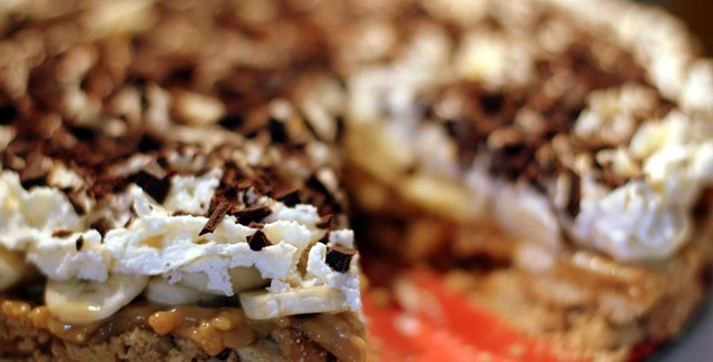 Banana Toffee Pie – den ultimative super bowl dessert
