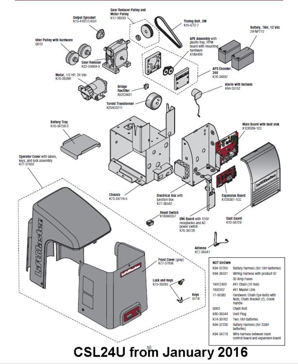 liftmaster 8355 wiring diagram