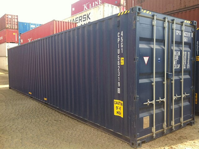 Open Shelving Units 40ft High Cube Containers For Sale & Hire