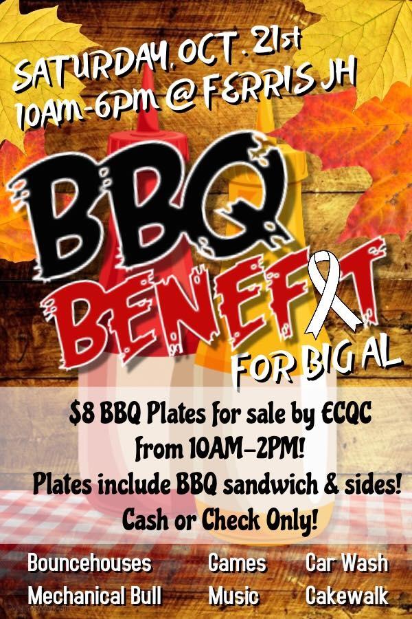 BBQ Benefit for Big AL 10/21/2017 Ferris, , Ferris Jr High - bbq benefit flyers