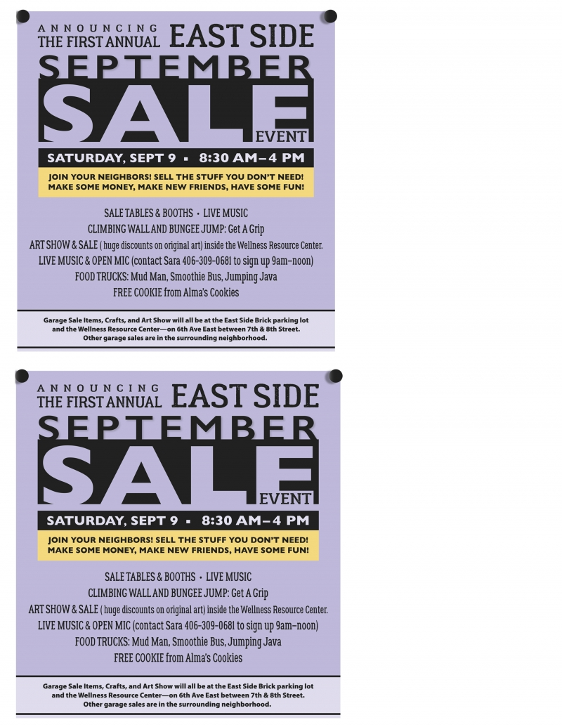 Art Garage Open Mic Eastside Neighborhood September Sale Event 09 09 2017 Kalispell