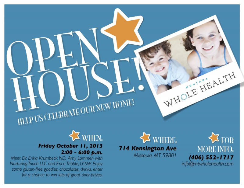 Open House at Montana Whole Health 10/11/2013, - Business Event